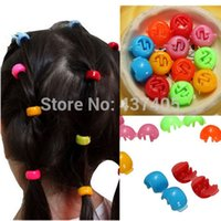 Wholesale Candy Colors Mini Cute Girl Kids Ponytail Hair Tie Clips Grips Beads Style Accessories