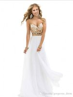beach wear sale - Hot sale summer beach Floor length Beading Chiffon Beaded Party gowns Evening Dresses Prom Dresses Newest Gorgeous exquisite