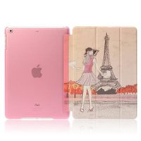 7.9'' auto paint mixing - Colorful Printing Paint Magnetic Smart Cover Back Clear Case for iPad mini Air Auto Sleep Stand Matte Cases Clear Color