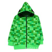 Cheap Boys Minecraft hoodies Best kids creeper model jacket
