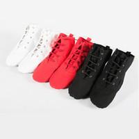 Wholesale Soft Sole Canvas Jazz Shoes Ballet Dance Shoes Split Heels Sole Shoe Black Red White Men Women Boys Girls A2030