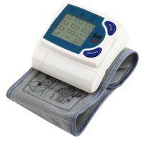Wholesale 2PCS health monitors Digital LCD Wrist Cuff Arm Blood Pressure Monitor Heart Beat Meter health care Machine