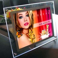 Wholesale A3 Super Slim Crystal Light Box Frameless LED Desktop Light Box