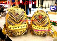 Wholesale Hot Sale New Fashion brand designer MCM Men backpacks Korean star EXO style women shoulder bags girls boys hiking biking leather bag