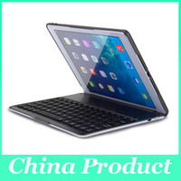 Wholesale Ultra Slim Shell Aluminium Folio Wireless Bluetooth Keyboard Carrying Stand Case Cover for Apple iPad Air iPad