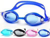 Wholesale Colorful Waterproof Anti fog Swimming Goggles Mirror Coating Plating Waterproof Diving Adjustable Swimming Glasses Adult Goggles