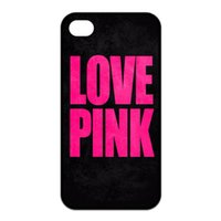 Wholesale Love Pink black back Design Hard Plastic Mobile Phone Case Cover For iPhone S S C Plus