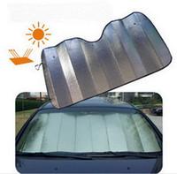 Wholesale Sided silver aluminum bubble sunshade front windshield sun visor summer car sun shade block x60mm
