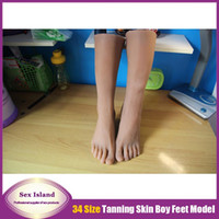 sex doll feet - New Size silicone Boys feet mold Foot Fetish Foot worship foot sex toys silicone feet mold Model DHL