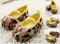 Cheap High-grade leopard baby shoes!brown toddler shoes,lace bow princess single shoes!charm children shoes,soft girls floor shoes.6pairs 12pcs.C
