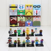 Wholesale 8pcs set Terraria block with cards Wyver Eye of Cthulhu Skeletron Building Bricks Blocks Minifigure kids Toy set