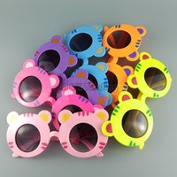 funny head - Funny Tiger Cartoon Head Children Sunglasses Colour Summer Beach Kids Eyewear Colors UV400 Eyes Protection