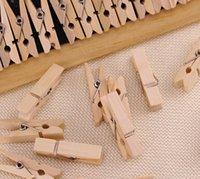 Wholesale Vintage wooden combination photo wooden clip clip photo wall colors mini clip pack