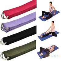 Wholesale 67 quot FT Yoga Stretch Strap D Ring Belt Figure Waist Leg Fitness Exercise Gym QB