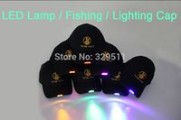 Wholesale 8 Color LED Light Emitting Hat Luminous LED Cap Flash Cap Led Hat Baseball Lamp Cap For Hunting Fishing Lighting