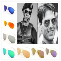 Wholesale RB Vintage Color film Sunglasses Set Colors Eyeglasses Unisex Goggles UV400 Protection AAA With Box and cloth set