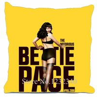 bettie page - Bettie Page Movies Style throw Pillowcase Custom18x18 Inch Twin Sides Home Car Cushion Cover