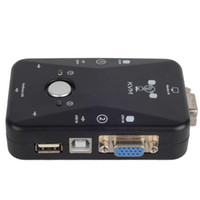 Wholesale 2 Ports USB VGA KVM Switch Box Converters For Computer Keyboard Mouse F1825 W0 SUP5