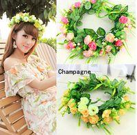 Wholesale Rose wreath Bridal wedding Decorative Flowers Beach wearing accessories seaside holiday