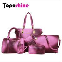beautiful handbags - Gradient Knitting Women Bags Elegant Beautiful Bags Per Set Dream Women Composite Bag Fashion Women Handbag Set Popular