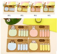 Wholesale New South Korea s creative stationery Cute cartoon animals kraft paper N times messge notes