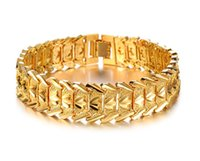 Wholesale Fashion k Yellow Gold Filled Leisure Wide Bracelet Top Grade k Bracelet Bangle mm width