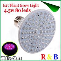 Wholesale LED Grow Spot Light E27 RED and BLUE W leds W leds Hydroponic Plant Grow LED Spotlight Bulb V Greenhouse Lighting