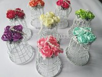 Wholesale Luxe White Bird Cage Wedding Favor Gift Box Favors cm Wedding Decorations Birdcage Candy Box