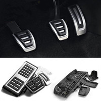 auto clutches - For Volkswagen VW Golf GTi MK7 Skoda Octavia A7 Stainless Steel Car Foot Fuel Brake Clutch Pedals MT AT auto accessories HX