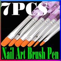 Wholesale Fashion Marble Nail Art Brush UV Gel Acrylic Design Builder Salon Tip DIY Nails Brush Pen Set For Women Beauty Tools