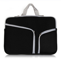 china wholesale handbags - Slim Laptop Protective Case Zipper Bag Sleeve Pouch Handbag For Macbook Air Pro Retina inch Storage Bag Travelling Bags Durable