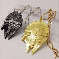 Wholesale Hot Movie Star Wars Force Awakening necklace new Star Wars Airship key ring Keychain necklace