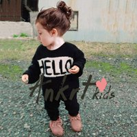 Wholesale For T INS Hot Sale quot Hello quot quot Bye quot Infant Baby Cardigan Knitwear CLothes Cotton Toddler Winter Warm Clothing Casual Outwear Thicken Wear