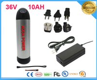 bike battery 36v - free TNT shipping v ah electric bike li ion battery electric bike battery pack with BMS V A charger