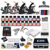 Wholesale Tattoo Kit Machine Guns USA Ink Equipment Needles Power Supply D139GD