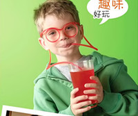 soft drink - 2pcs Wholesales Hot Funny Soft Glasses Straw Unique Flexible Drinking Tube Kids Party Accessories Free Shipment