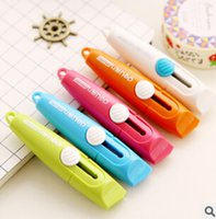 Wholesale Sweet Candy Color Portable Utility Knife Paper Cutter Cutting Paper Razor Blade Office Stationery Escolar Papelaria