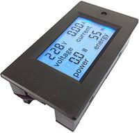 Wholesale AC A V Digital LCD Voltmeter ammeter power meter multimeter PZEM