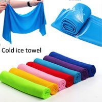 Wholesale Cold Towel x35cm cooling Towel Exercise Sweat Summer Sports Ice Cool Towel PVA Hypothermia Cooling Towel color Single layer retail