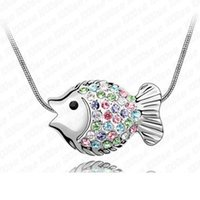 america beaded jewelry - Factory Tropical fish factory outlets Korean high end fashion jewelry crystal pendant necklace jewelry in Europe and America Val