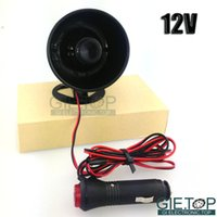 Wholesale Car Van Truck Tone Loud Security Alarm Siren Horn V Front Rear Speakers With Switch Control Warning Horn Black