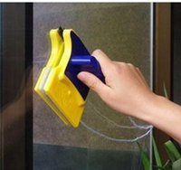 Wholesale Double faced Magnetic Window Cleaner Double Side Glass Wiper Cleaner Surface Useful Brush New