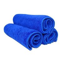 Wholesale High Quality Microfiber Car Cleaning Washing Cloth X30CM Blue Color Super Absorbent Soft and durable Square Shape