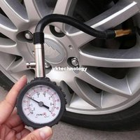 Wholesale 1pc New Car Tire Pressure Gauge High Quality Precision Tyre Dial Meter Pressure Measurement Diagnostic Tools for Car Motor Bike