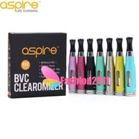 Wholesale Original Aspire Atomizer CE5S CE5 mL Dual replaceable coil Huge Vapor BVC BDC Tank rebuildable Atomizer