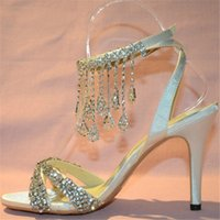 Cheap 2015 New luxury Wedding Shoes beautiful Bridal Dress shoes lady nice sandals rhinestone Summer Party Prom Dress Shoes