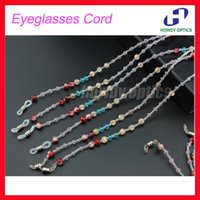 acrylic reading glasses - DH013 Colorful beaded sunglasses reading glasses eyeglasses cord for glasses neck strap chian string