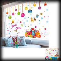 Adornos de pared al aire libre Baratos-50% de honorarios del envío 50pcs Ornamento pegatinas de pared DIY Decoración por la Ventana de la alta calidad al aire libre