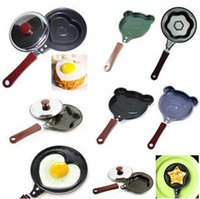 Wholesale Free drop shipping pieces Mini small non stick frying pan love omelette pan omelette pan mold creative breakfast L056