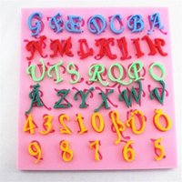 alphabet moulds cake decorating - D English Letter amp Number Shape Silicone Fondant Mould Special Font Alphabet Cookie Chocolate Sugar Craft Cake Decorating Mold
